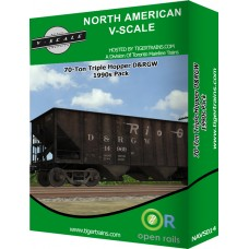 70-Ton Triple Hopper D&RGW 1990s Pack
