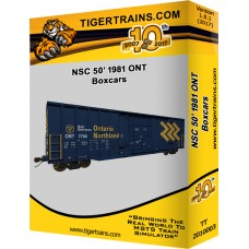 1981 NSC 50' Boxcars Ontario Northland