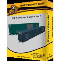86' Autoparts Boxcar Set 1