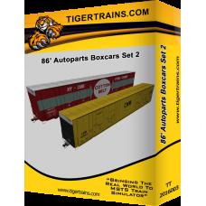 86' Autoparts Boxcar Set 2