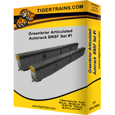 Greenbriers Articulated Autoracks BNSF Set #1