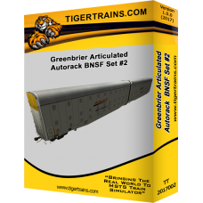 Greenbriers Articulated Autoracks BNSF Set #2