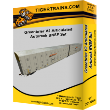 Greenbriers Articulated Autoracks V2 BNSF Set