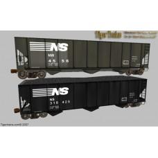 Norfolk Southern - 3 Bay Coal Hoppers
