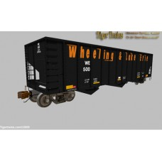 Wheeling & Lake Erie 3 Bay Coal Hoppers