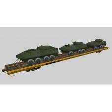Military Flat Cars Set #3