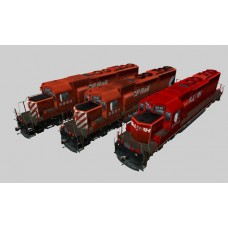 Canadian Pacific SD40 Pack #1